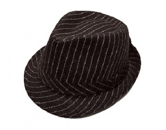 Wholesale Youth Polyester Striped Fedora Hats