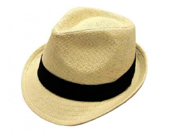Wholesale Youth Straw Fedoras with Pleated Band