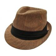91a83aa9edc6d Multi Color Weave Straw Fedora Hats with Black Band