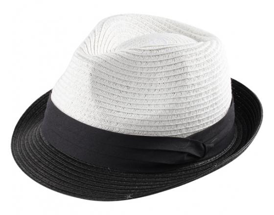 Wholesale Two Tone Paper Straw Fedora Hats