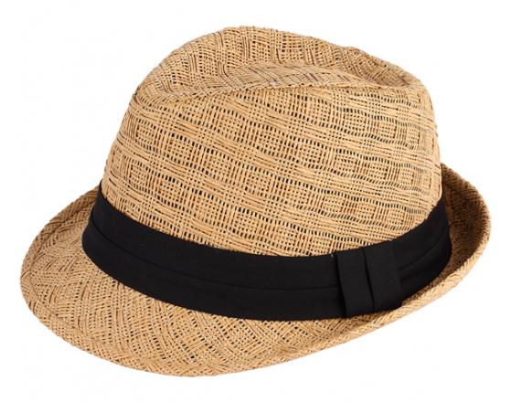 Wholesale Paper Straw Fedora Hats with Black Bands
