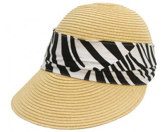Wholesale Facesaver Straw Hats with Fabric Band