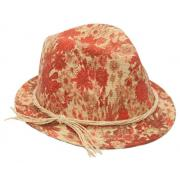Wholesale Painted Flowers Straw Fedora Hats