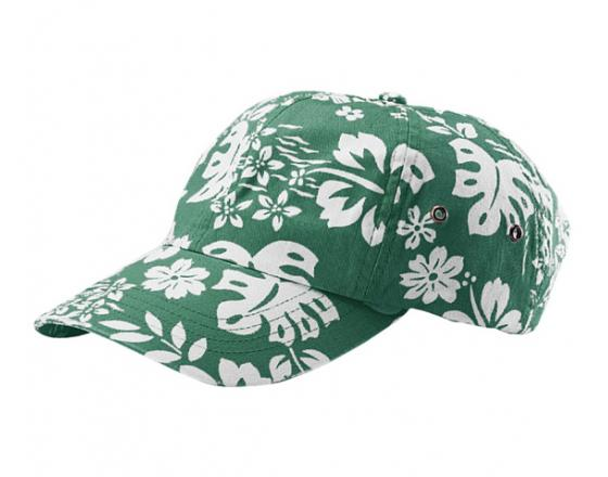 Wholesale Youth Washed Hawaiian Flower Print Hats