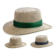 Wholesale Gambler Shape Straw Hats with Under Shade Protection