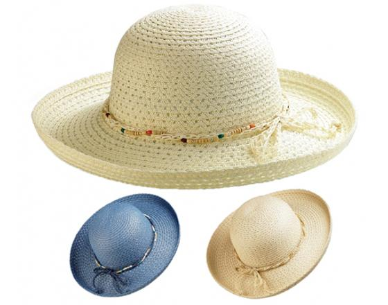 Wholesale Ladies Braid Toyo Straw Hats with Decoration