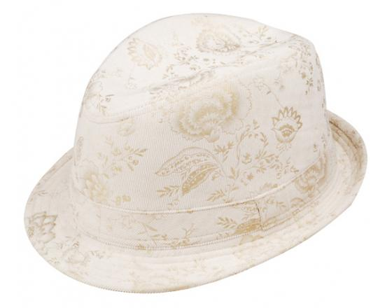 Wholesale Ladies Cotton Corduroy Printed Fedora Hats