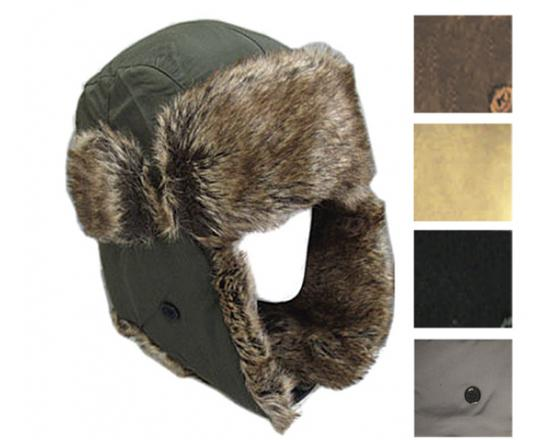 Wholesale Nylon Trapper Hats with Faux Fur