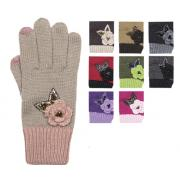 Assorted Wholesale Assorted SmartTips Gloves w/Flower & Butterfly