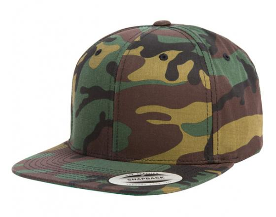 Wholesale Flexfit™ Yupoong Camouflage Flat Bill Snapback Hats