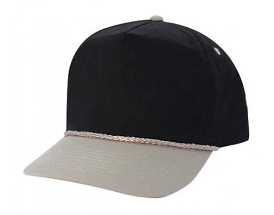 Wholesale High Profile Cotton Twill Hats with Braid