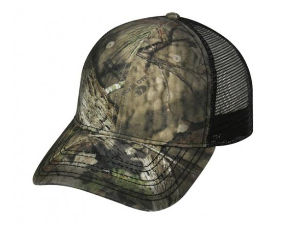 Wholesale Licensed Camouflage Frayed Bill Mesh Back Trucker Hats