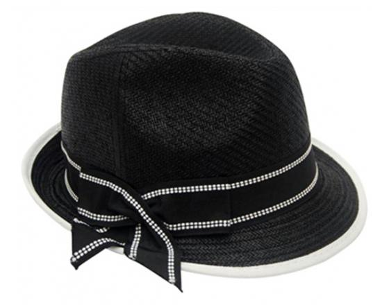 Wholesale Straw Fedora Hats with Contrasting Bow