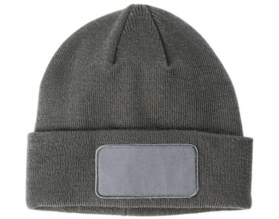 "Wholesale 12"" Beanie w/Sewn Patch on Cuff"