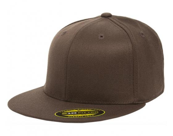 Wholesale Flexfit™ Yupoong Premium Fitted Flat Bill Hats