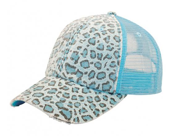 67b80fb7341 Wholesale Low Profile Canvas Leopard Print with Mesh Back Hats - 6582