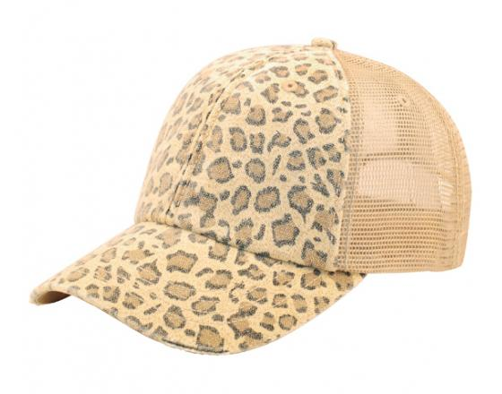 cfdf1b8d Wholesale Low Profile Canvas Leopard Print with Mesh Back Hats - 6582