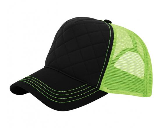 Wholesale Fashion Quilted Foam Front and Neon Mesh Trucker Hats - 6878B 6896dac194fa