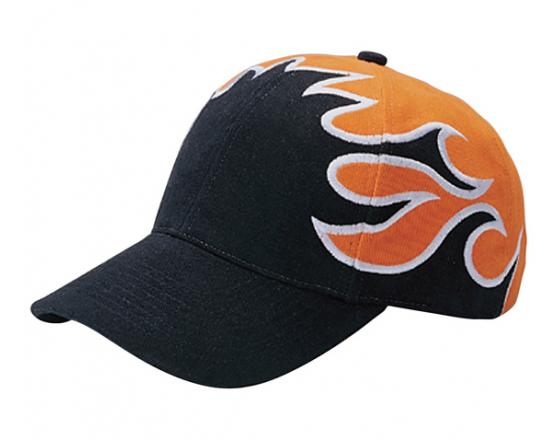 Wholesale Low Profile Heavy Brushed Cotton Twill with Flame Embroidery Hats