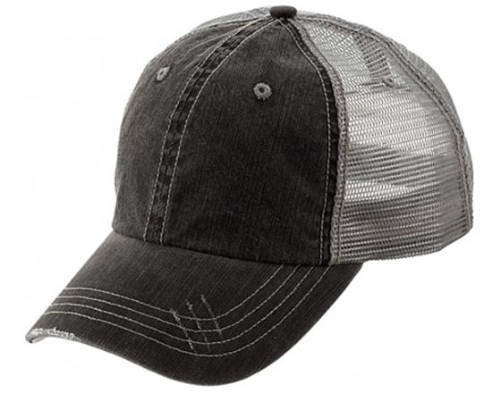 Wholesale Distressed Herringbone Cotton Twill Soft Mesh Hats