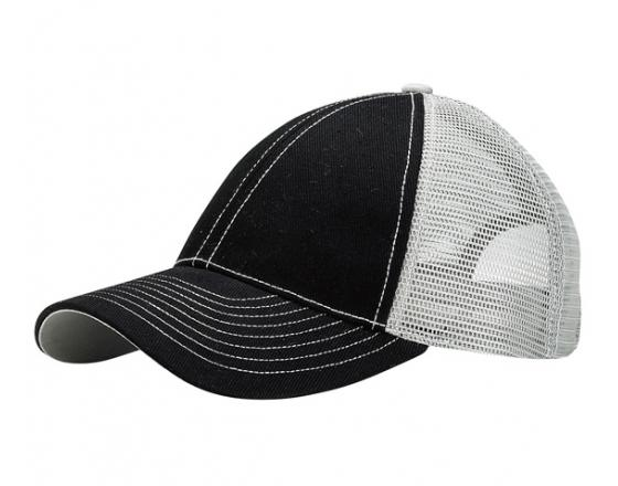 Wholesale Contrasting Stitch Mesh Back Trucker Hats