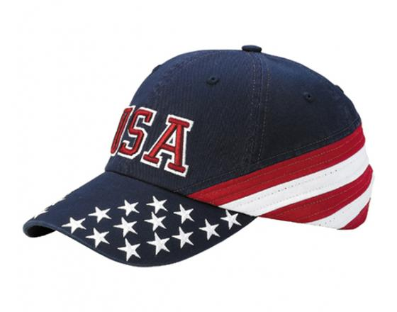 bc878b4851a32f Wholesale Unstructured Low Profile Cotton Twill Washed USA Flag 6-Panel Hats