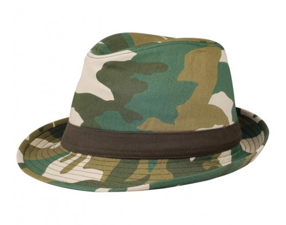 Wholesale Camouflage Fedora Hats