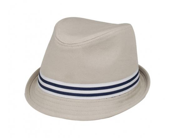 Wholesale Soft Cotton Canvas Fedora Hats with Striped Band