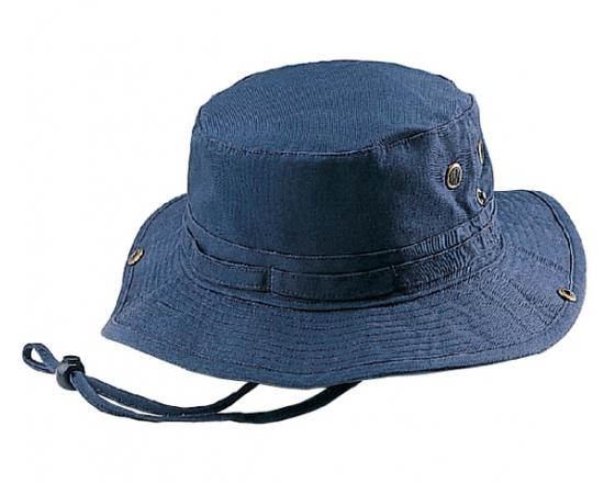 Wholesale Solid Twill Washed Hunting Bucket Hats with Self Fabric Chin Cord
