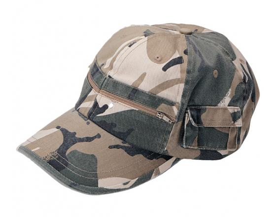 Wholesale Casual Style Camouflage Twill Washed Pocket Hats