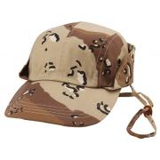 Wholesale Camouflage Twill Fishing with Chin Cord Hats