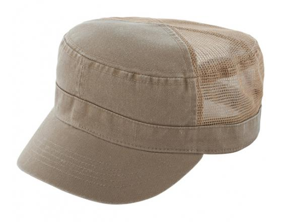 Wholesale Enzyme Washed Cotton Twill Army Hats with Mesh Back