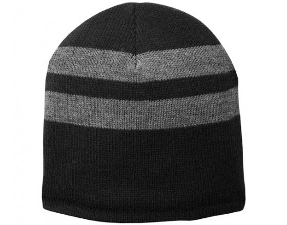 Wholesale Port & Company Fleece Lined Striped Beanies